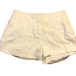 J.Crew City Fit 100% Linen Cuffed Shorts Size 2